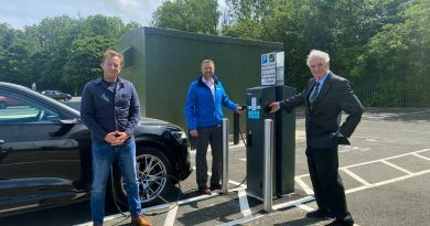 Water company donates charging points to busy car park