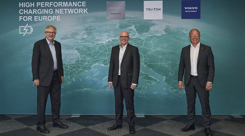Daimler, Traton and Volvo plan Euro charging network for heavy-duty trucks