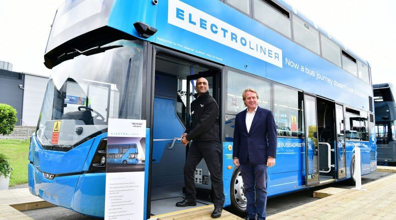 Wrightbus unveils new rapid-charge electric double-decker bus